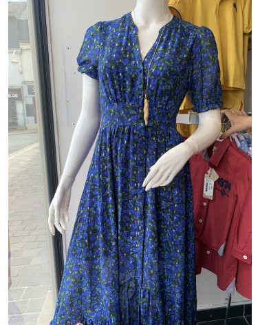 Robe bleu a fleur