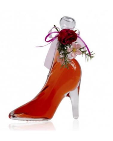 chaussure bain moussant rouge transparent